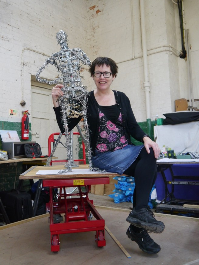 Hazel Reeves with final armature of the Cracker Packer from 2017-18
