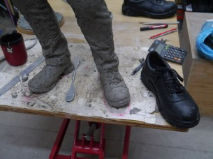 Sculpting the safety shoes