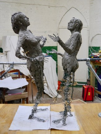 Sculpting the unclothed figures