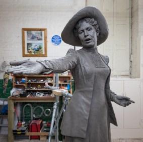 Emmeline Pankhurst sculpture by Hazel Reeves, photo Nigel Kingston