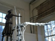 Emmeline armature with maquette - sculpture by Hazel Reeves