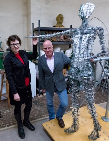 Hazel with Andrew and the Our Emmeline armature - photo by Nigel Kingston