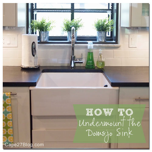 How to Undermount Ikea\'s Domsjo Sink