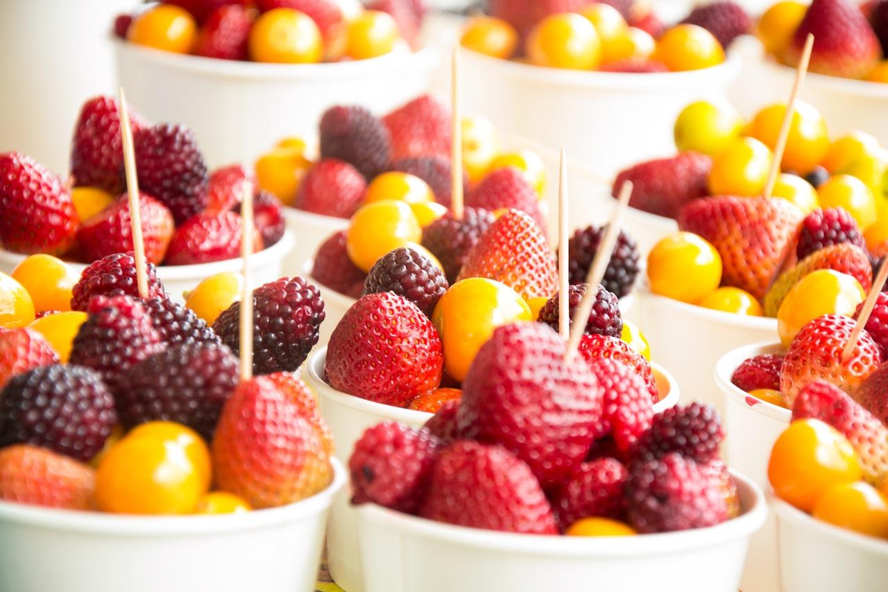 menù di Pasqua vegetariano - macedonia di frutta