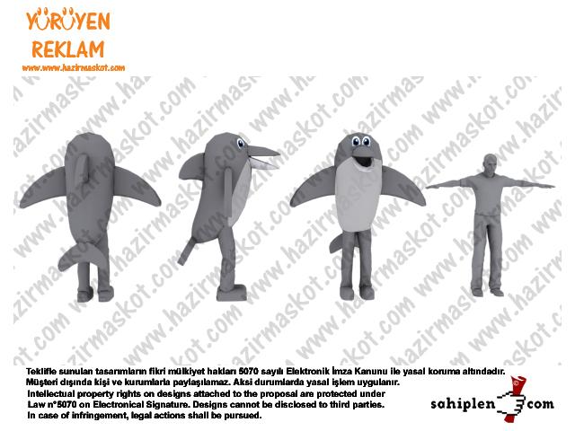 Yunus Balığı maskot / Dolphin Mascot Costume