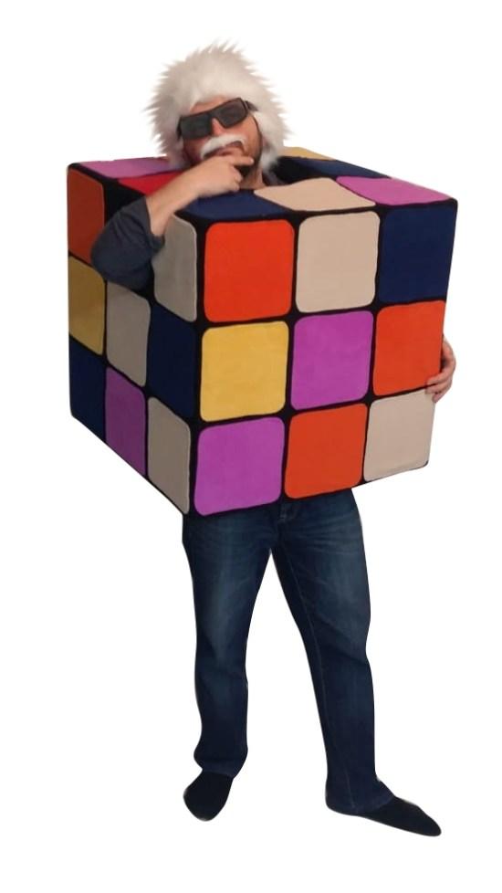 Rubik Küp Kostümü