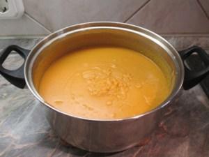 Sárgaborsó főzelék készen