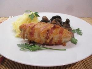 Baconbe tekert csirkemell 1
