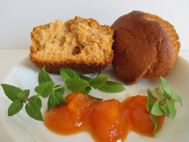 Sütőtökös muffin széttörve