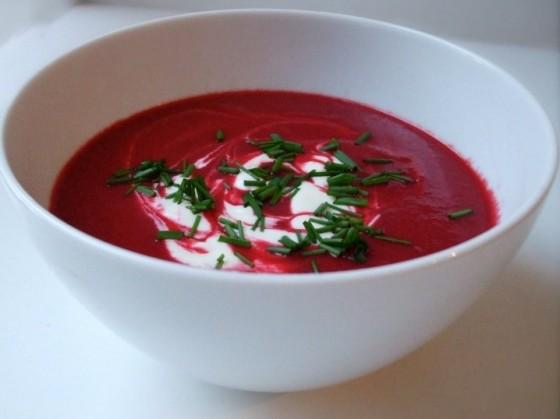 Sopa crema de betabel  Platos Entrantes  Caldos Sopas
