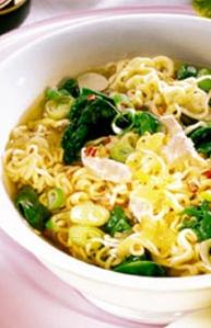 Ramen de jengibre y fideos de arroz  Cocina Oriental