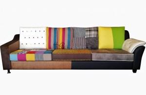 Patchwork bank kleuren bankstel op maat