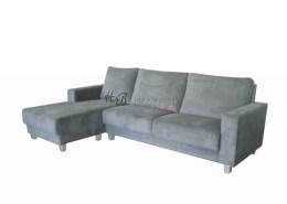 grijze loungebank hoekbank