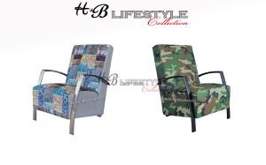 Aparte fauteuils kleurrijk
