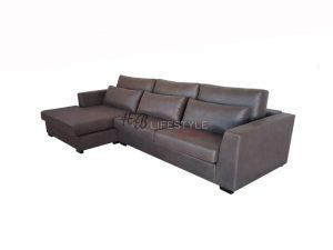 Landelijke Bank Met Chaise Longue.Model Allure Lounge 2 5 Zits Bank Bruin Landelijk Hb Lifestyle