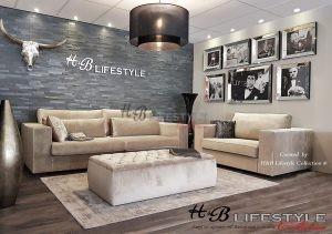 Velours hoekbank op maat  HB Lifestyle Collection