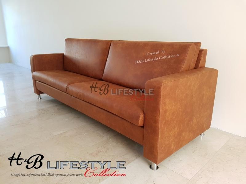 Stevige Leren Bank.Bank Met Hoge Zithoogte Hb Lifestyle Collection