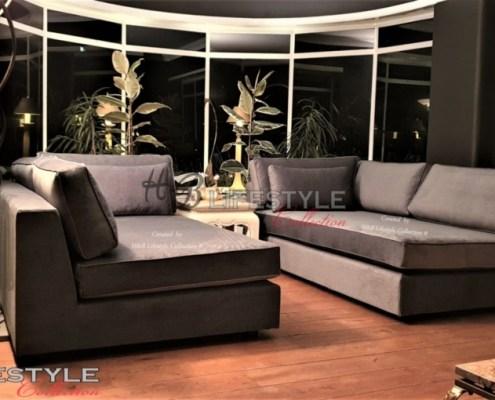 Lounge sofa bank voor erker