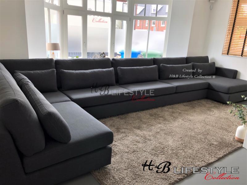 Hoekbank Loungebank Zwart Leer.Loungebanken Hb Lifestyle Collection
