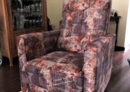 Patchwork kleuren fauteuil stof clochard