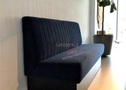 Luxe eetkamerbank op sokkel frame