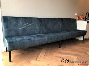 Velvet lange muurbank op maat