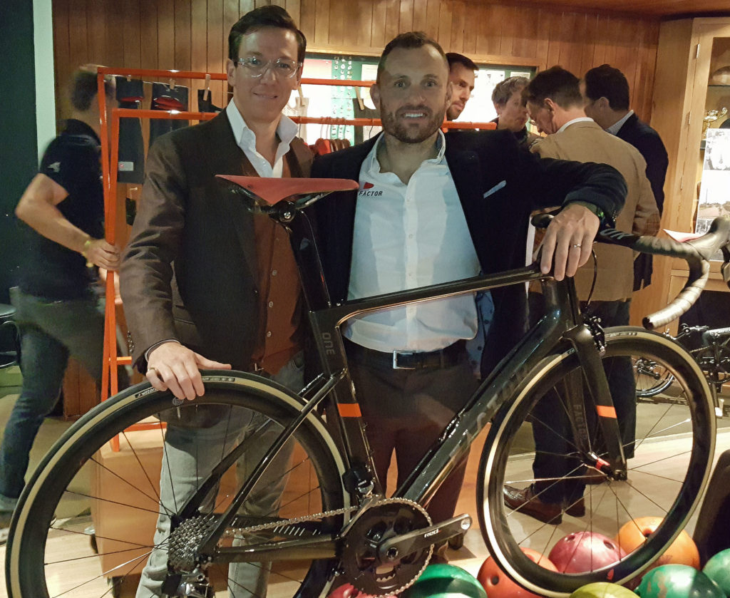 Joshua Buckley of H. Barnes & Co. and Baden Cooke of Factor Bikes