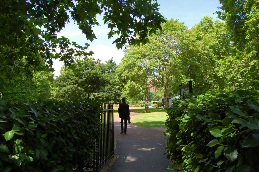 Entering a London Garden Square