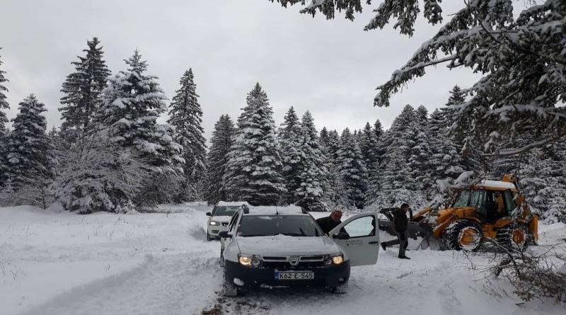 GLAMOČ: Čišćenje snijega na šumskim putevima
