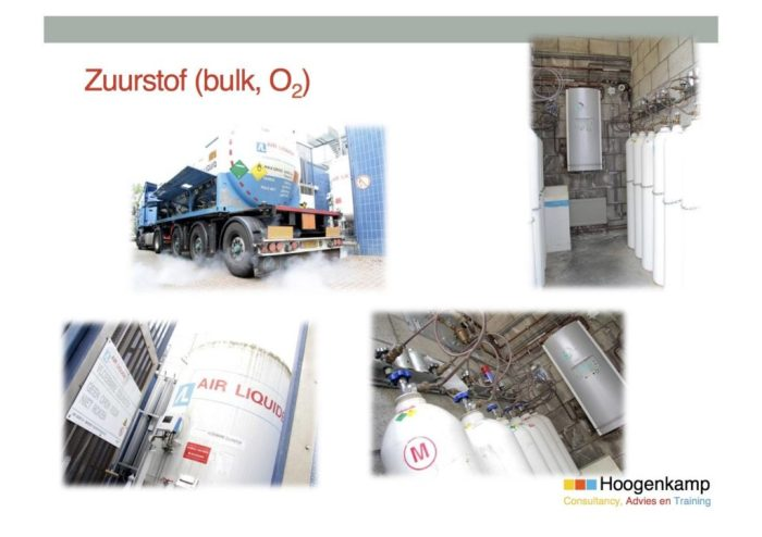 Zuurstof in tankwagens aangeleverd