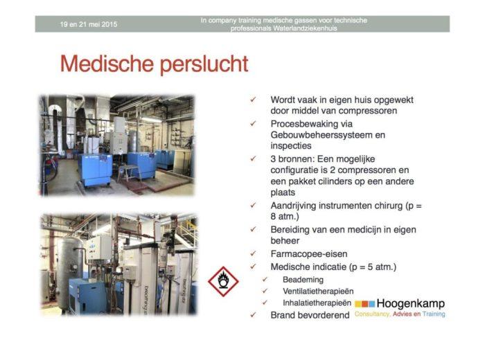 In company training medische gassen voor technische professionals Waterlandziekenhuis