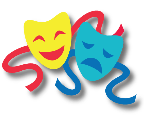Transparent Drama Masks Clip Art