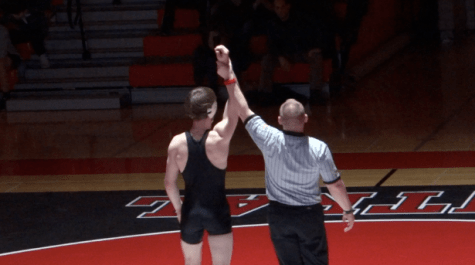 Wrestlers dominate on Senior Night