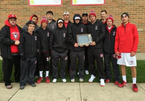 Boys Tennis takes first at sectionals