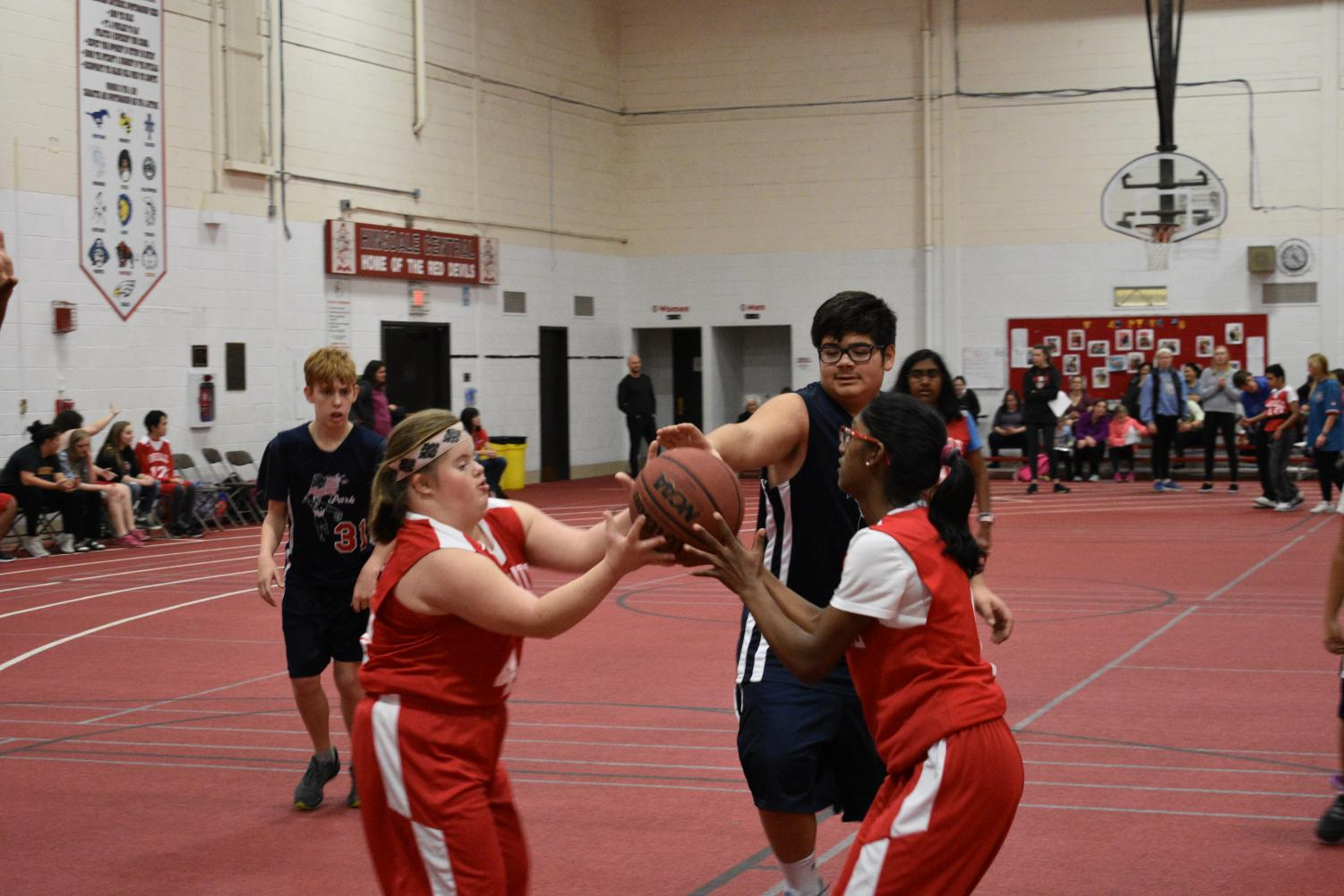 The Special Olympics basketball team played Park Junior High on Monday, Dec. 4.