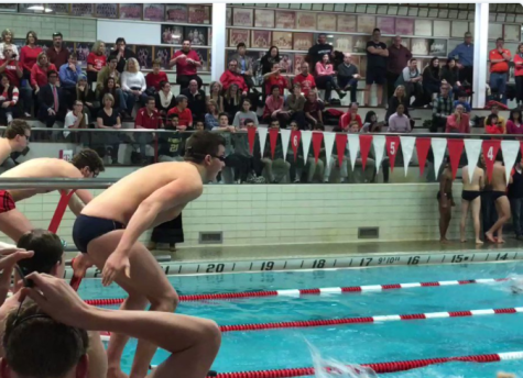 Boys swim team finishes second in state; breaks three records