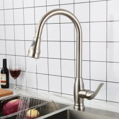 Stainless Steel Kitchen Faucets Faucet Archives Hcfaucet 0915 With Pull Out Spray
