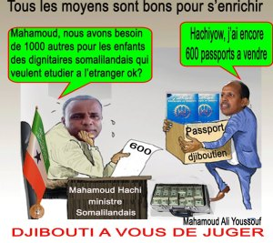 trafic de passeport djibouti entre hargeisa et djibouti