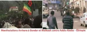 Manifestations Amhara à Gondar et Walkayit contre Addis-Abeba – Éthiopie