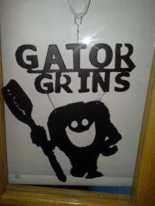 Gator Grins Sign made by GRHS welding Dept
