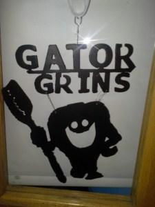 Gator Grins Sign made by GRHS welding Dept