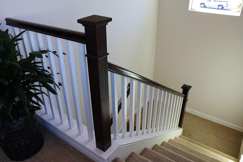 Bow Newel Post With Stain Grade Handrail Hci Railing Systems | Handrail To Newel Post | Fasten | Baluster | White Oak | Glass Balustrade | Landing