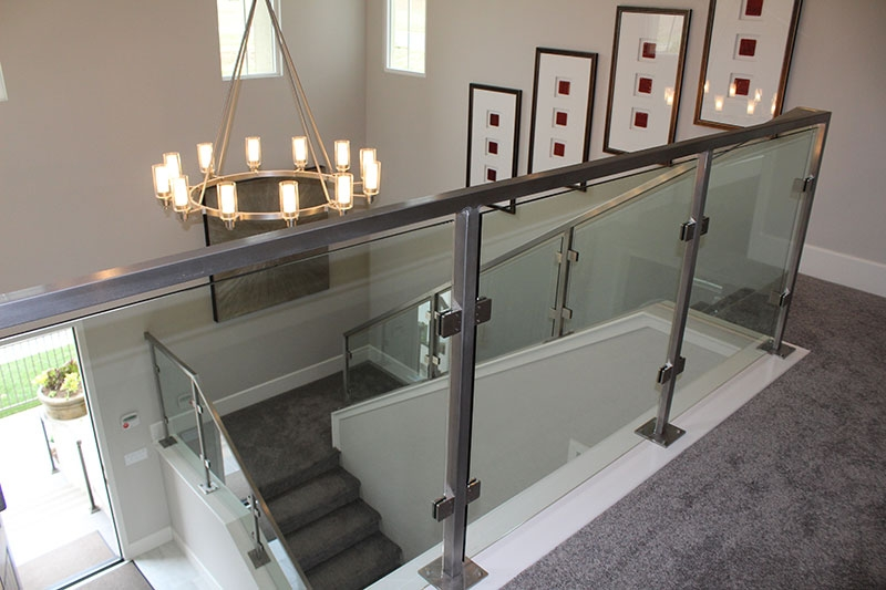Glass Panels With All Stainless Steel Hci Railing Systems | Stainless Steel Handrail With Glass | Balustrade | Steel Railing | Price | Aged Polished Steel | Wood