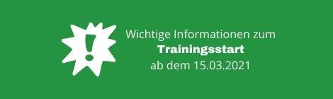 Trainingsstart Jugend ab 15.03.2021
