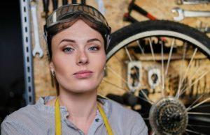 Woman Bike Mechanic