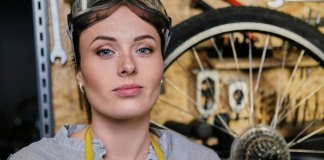 Woman Bike Mechanic
