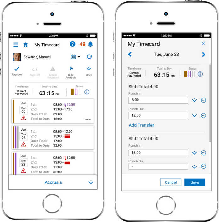 Kronos-SAP Mobile Time Card