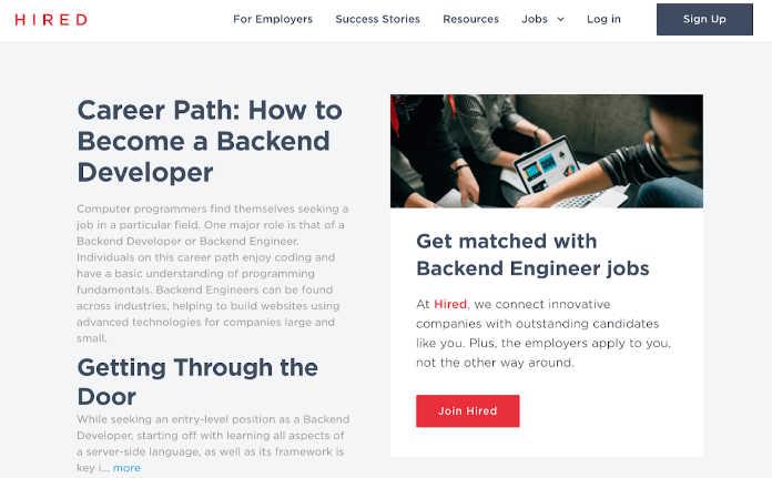 Hired.com Screenshot