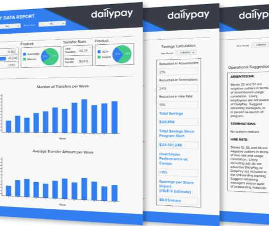 DailyPay Screens