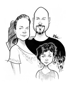 custom caricature sample